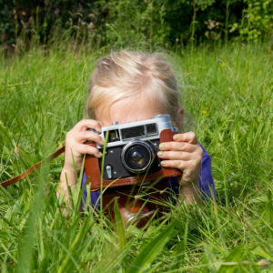 little heidi the girl with camera to her face